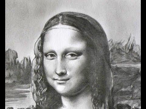Drawn portrait mona lisa Speed Mona speed draw Lisa