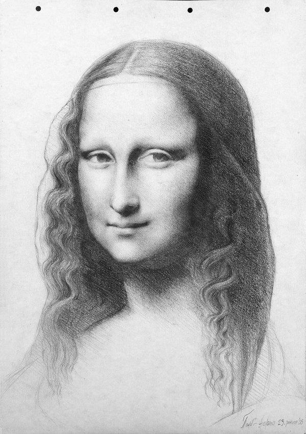 Drawn portrait mona lisa [lawy] Leonardo (Gioconda / [lawy]