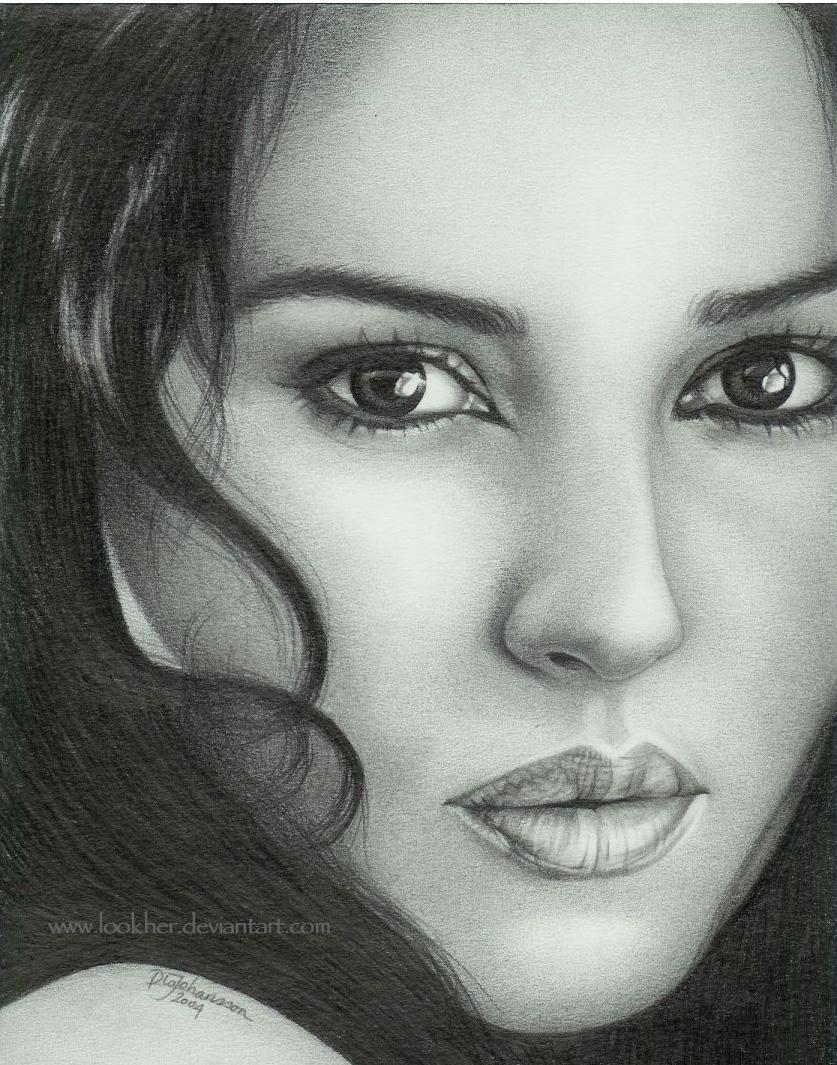 Drawn portrait monica bellucci Monica Bellucci DeviantArt LOOKher Monica