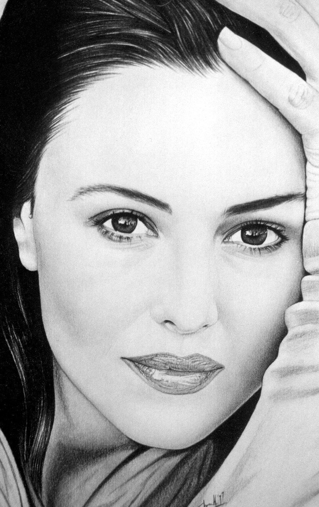 Drawn portrait monica bellucci Monica bellucci7 monica on by