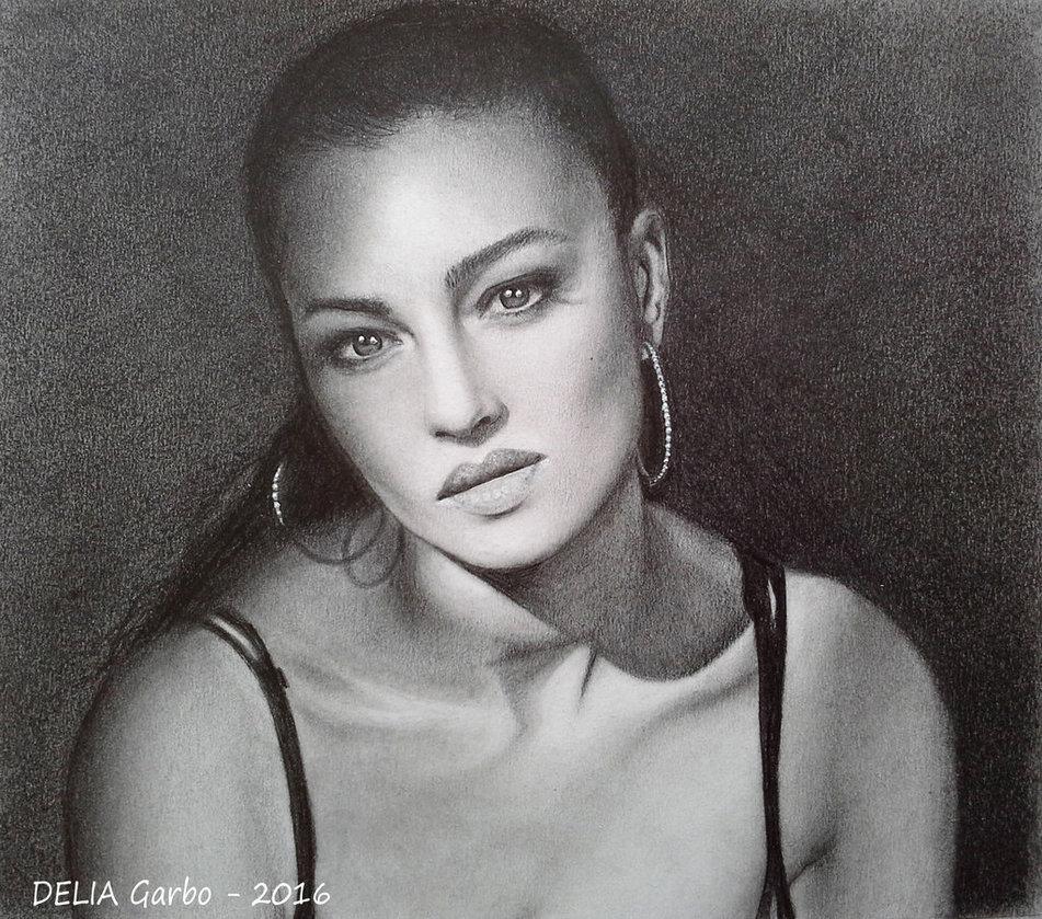 Drawn portrait monica bellucci Monica Bellucci DeviantArt PORTRAIT GARBO