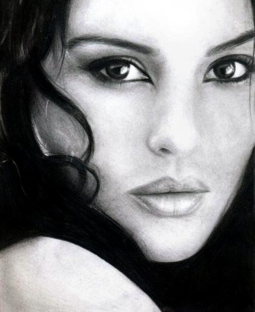 Drawn portrait monica bellucci Monica Bellucci DeviantArt Monica Snow