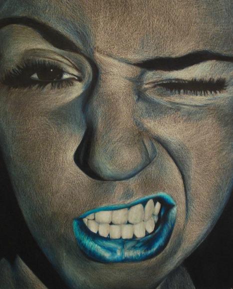 Drawn portrait monochromatic Self by VickysPortfolio portrait by