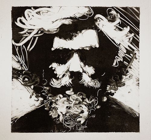 Drawn portrait monoprint For 11 Pinterest I and