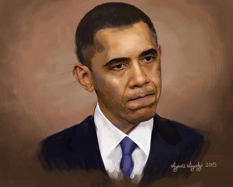 Drawn portrait obama Gallery online drawing paintings finished