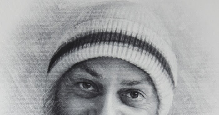 Drawn portrait osho Diction~Vipin Religion Cult and Behari