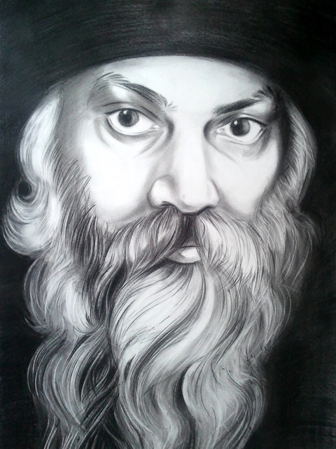 Drawn portrait osho Paitingts Abstract Colored paintings Art