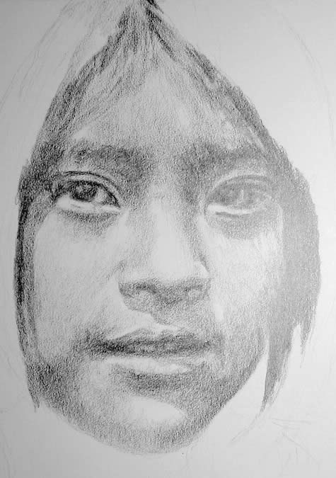 Drawn portrait pencil shading Preliminary shaded George Portrait the