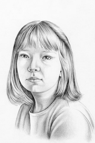 Drawn portrait pencil shading The Tone Drawing the 2f