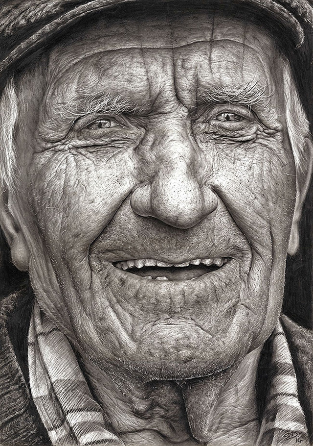 Drawn portrait photorealistic 16 Old An Incredible Incredible