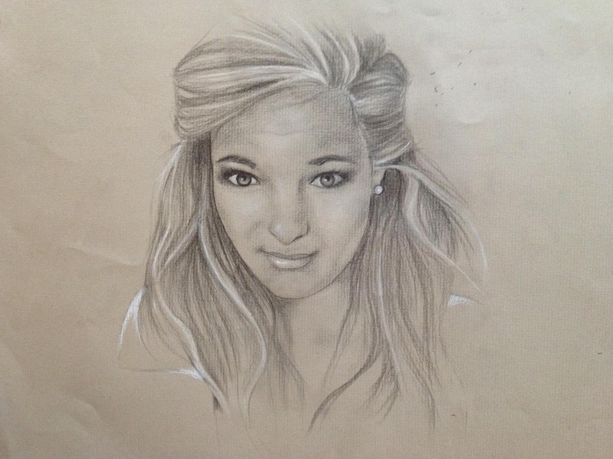 Drawn portrait portait Illustrations Pencil Self and Self