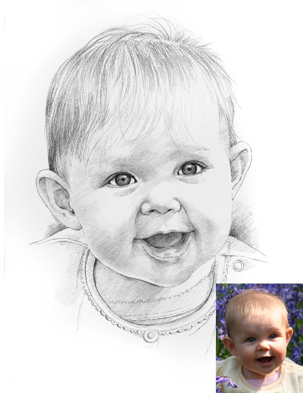 Drawn portrait portait Portrait Scanlan drawing portrait Baby