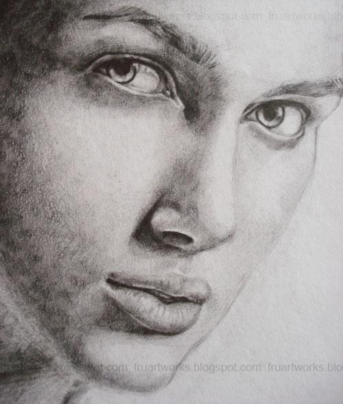 Drawn portrait portait Line Ipifru drawing line Keira