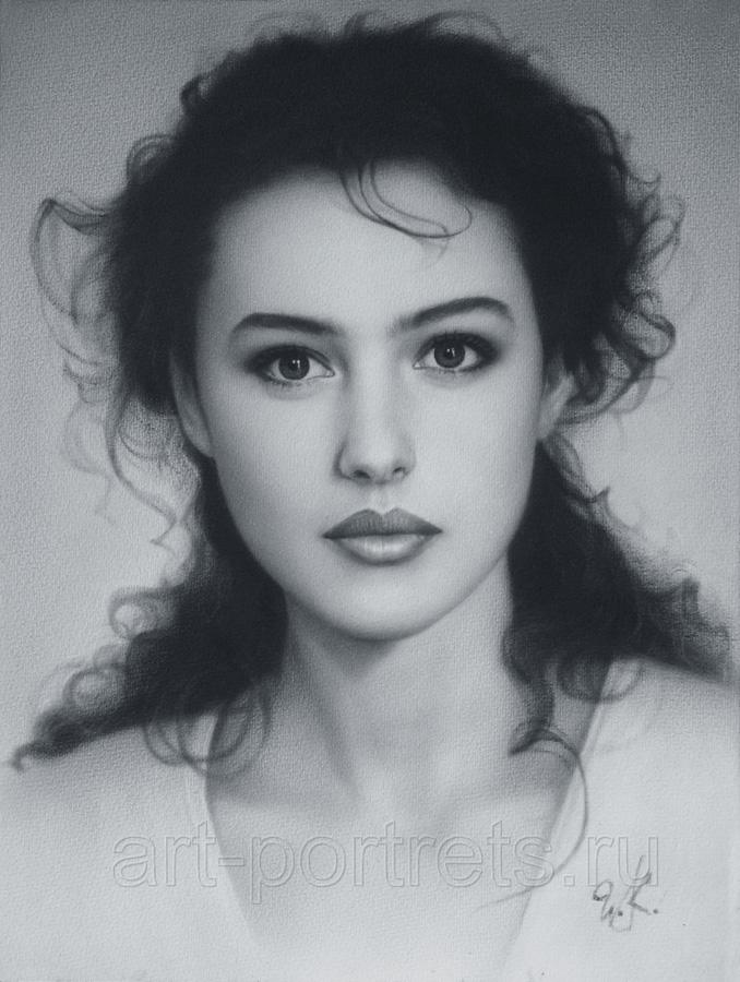 Drawn portrait professional  of the Technikue Portrait