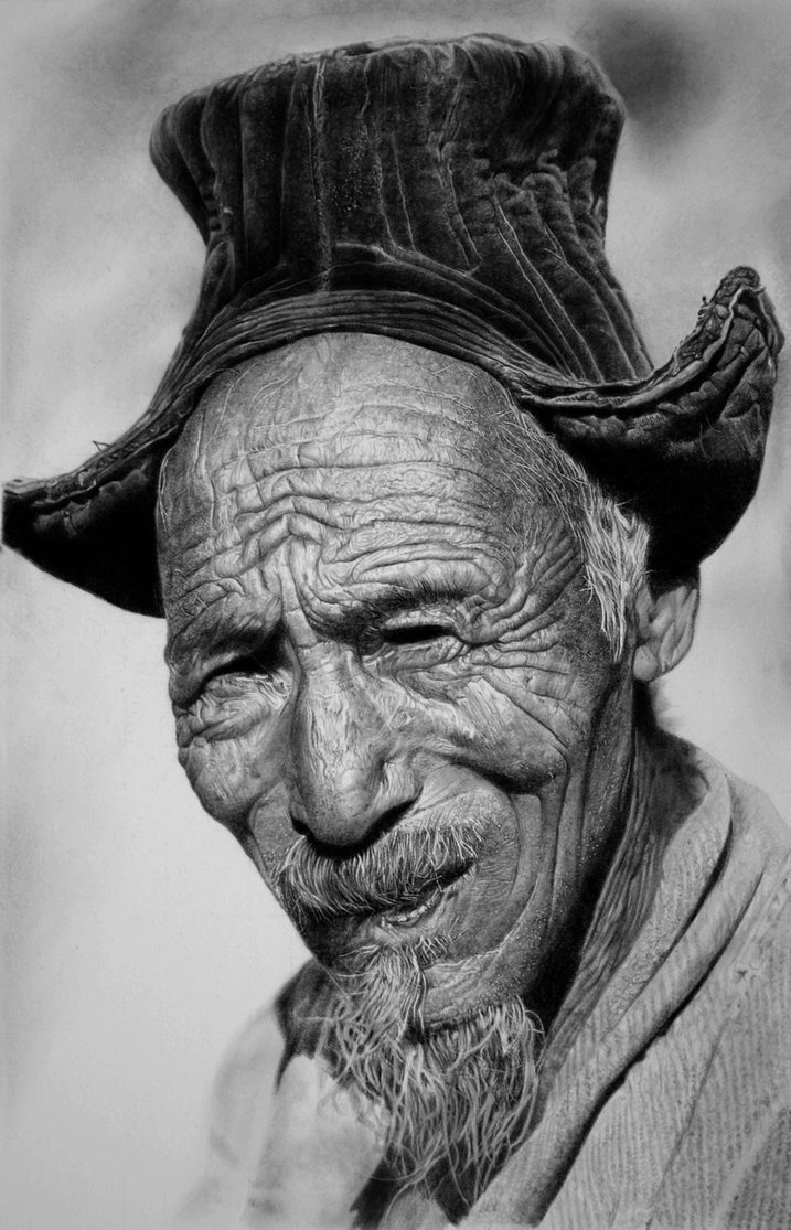Drawn portrait realistic Franco Clun photo Collecting drawings