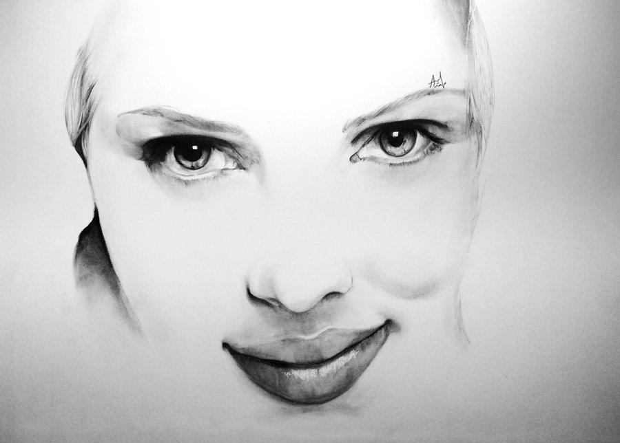 Drawn portrait scarlett johansson Scarlett Iza nagi Johansson Portrait