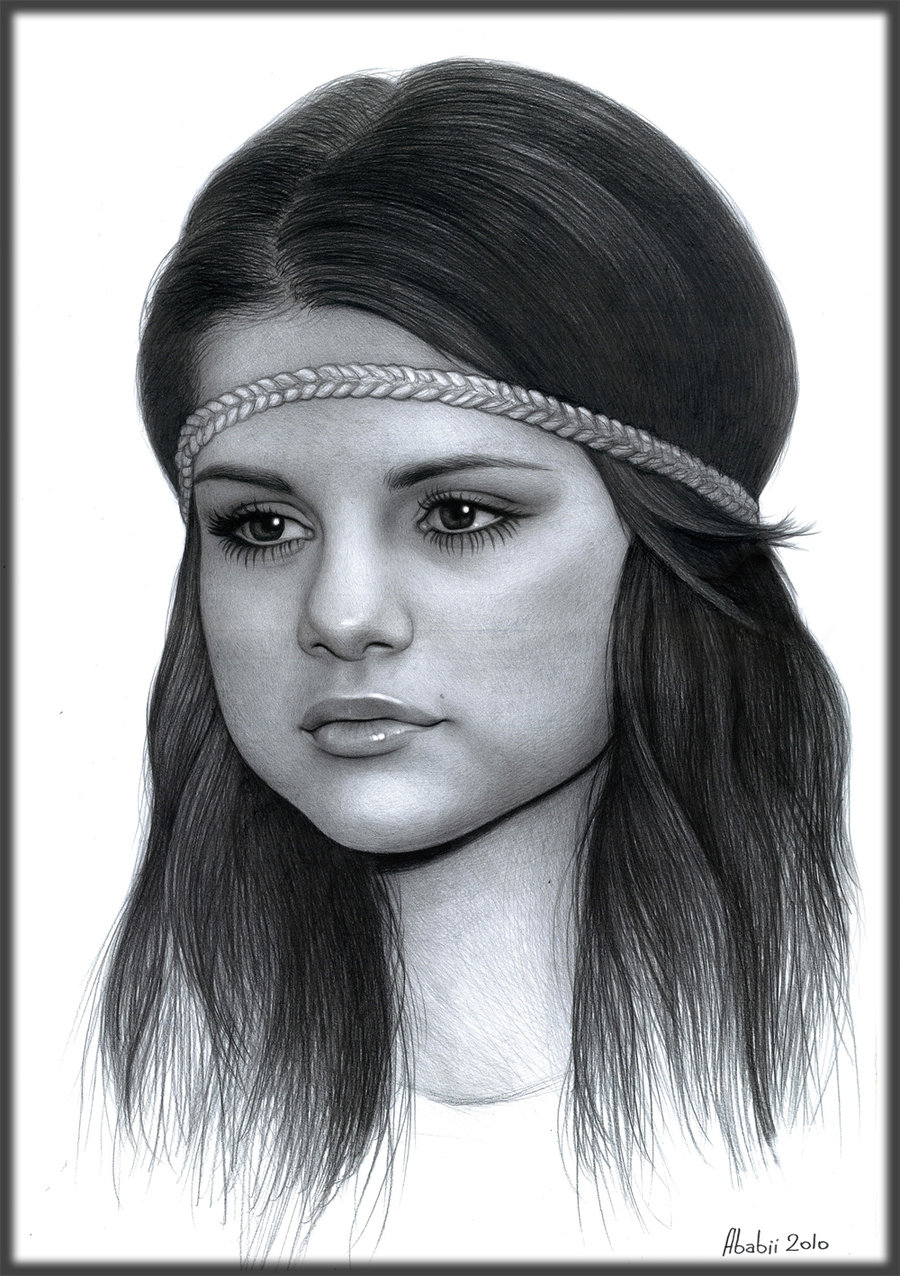 Drawn portrait selena gomez On t3 me DeviantArt 5