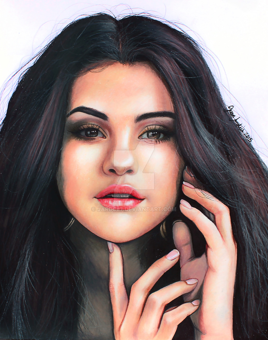 Drawn portrait selena gomez Jardc87 Selena by on by
