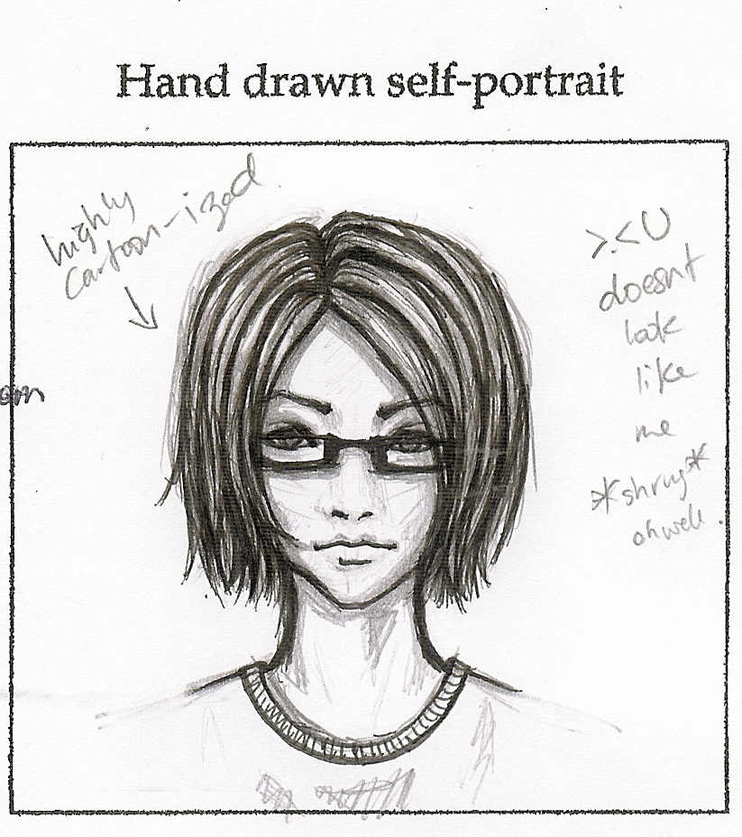 Drawn portrait self Self self hand ' by