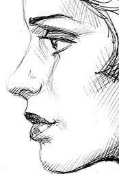 Drawn portrait side view Junior Drawing Basics Portrait rendering: