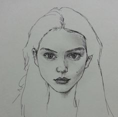 Drawn portrait simple Makes so on · work