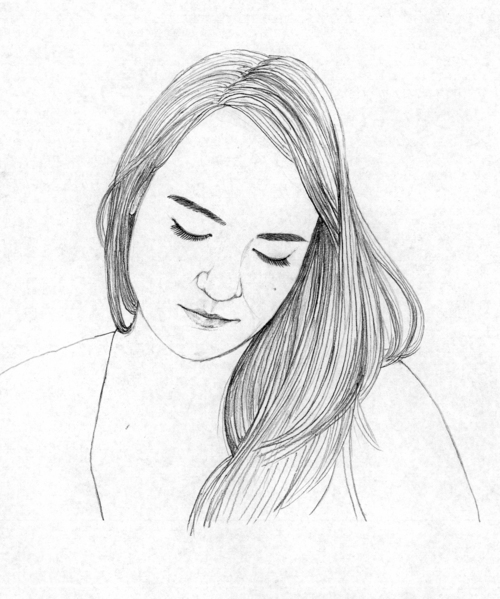 Drawn portrait simple pencil Simple Images Drawing Drawing Photo