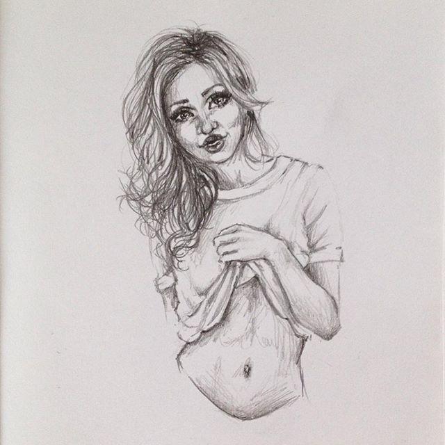 Drawn portrait simple pencil Instagram #art #graphite on portrait