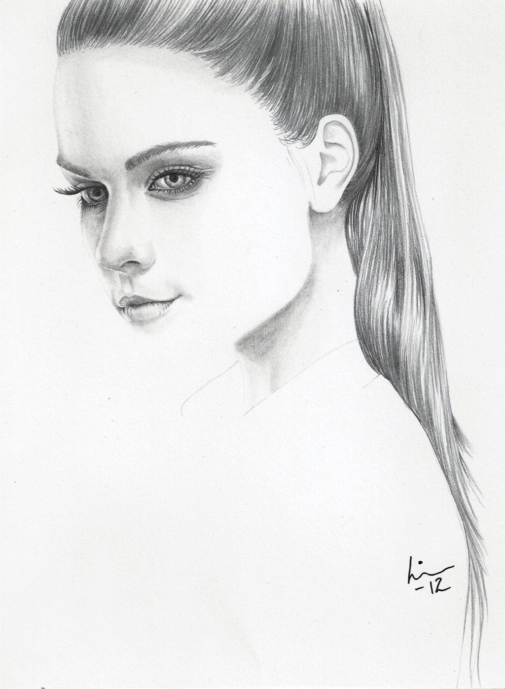 Drawn portrait simple pencil Linn deviantART and Simple on
