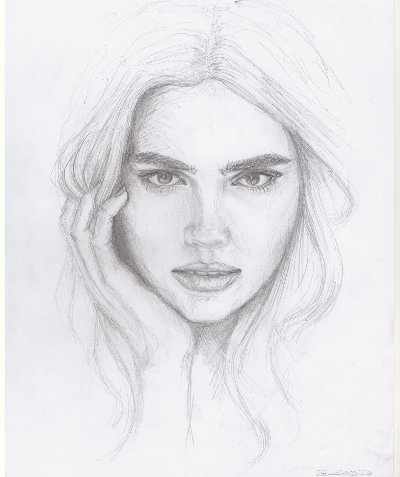 Drawn portrait simple pencil Of Design Drawing Sketch Drawing