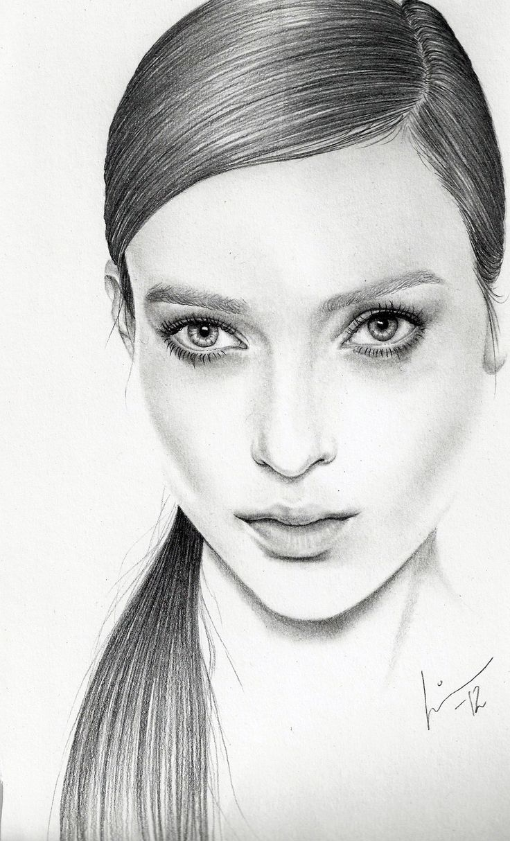 Drawn portrait simple pencil Pinterest on and Drawing images