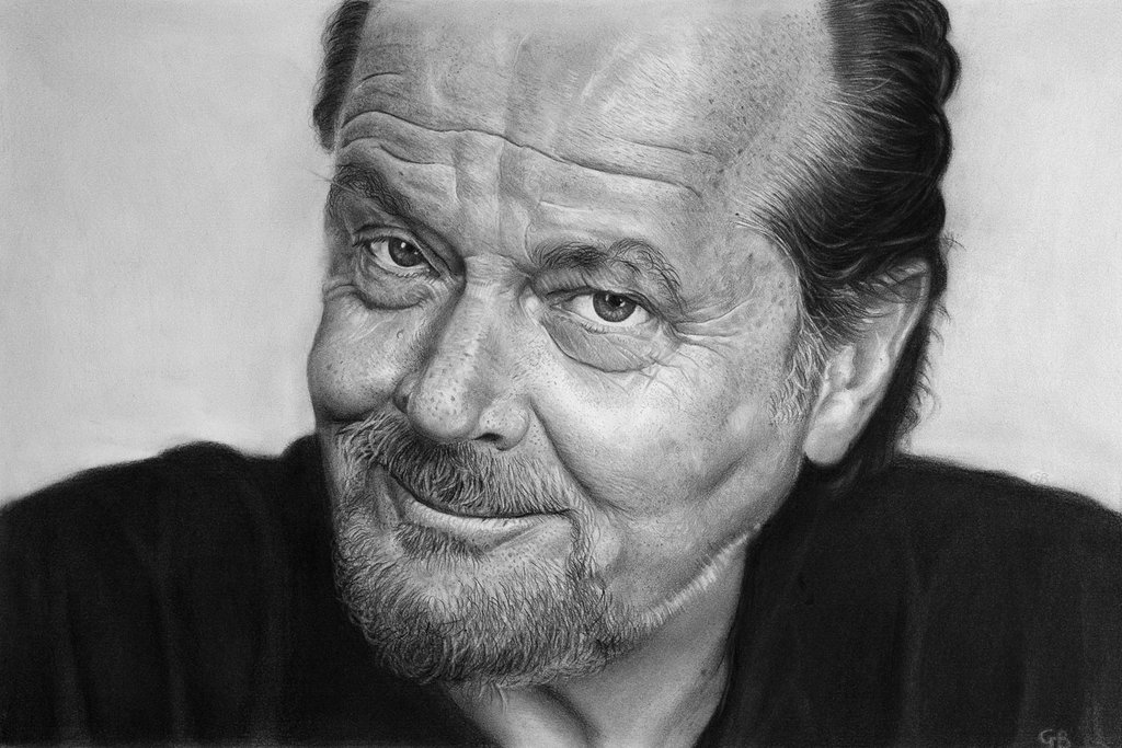 Drawn portrait sketch Nicholson Running DeviantArt Shanghai drawing)