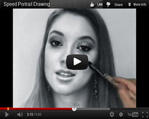 Drawn portrait speed Drawing Video video to video