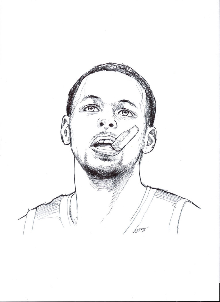 Drawn portrait stephen curry To Stephen Things Stephen Pinterest