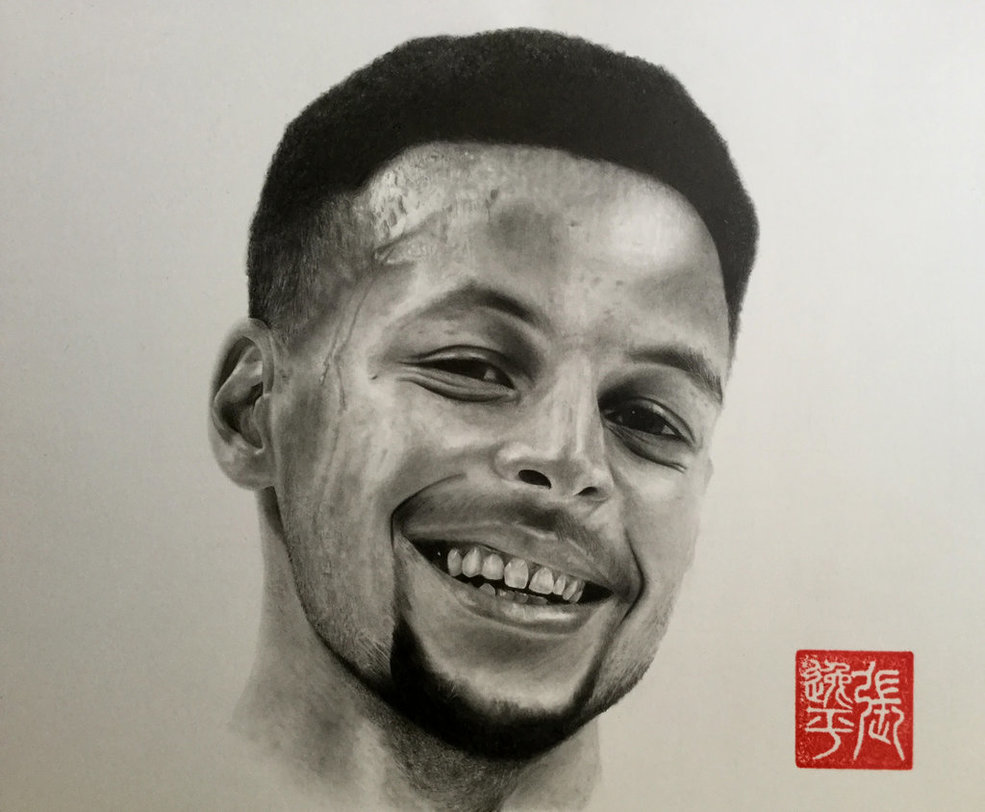 Drawn portrait stephen curry Yipzhang5201314 by Stephen DeviantArt yipzhang5201314