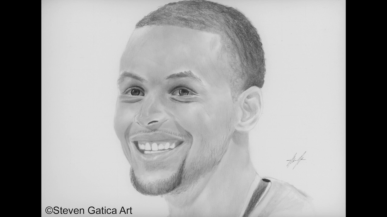 Drawn portrait stephen curry Youtube Lapse Stephen Youtube Lapse