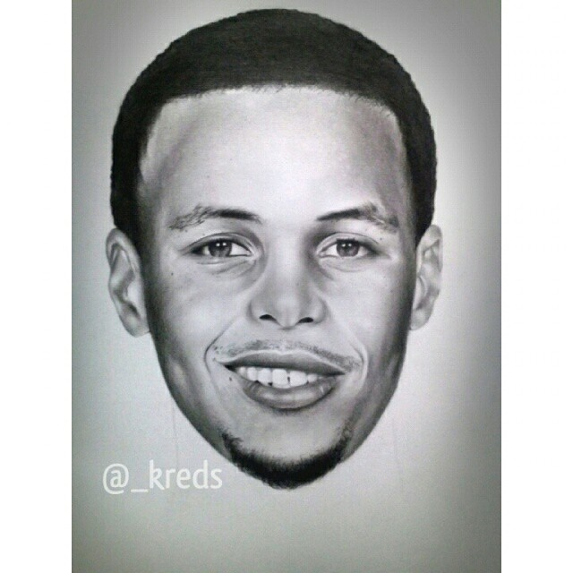 Drawn portrait stephen curry Instagram _kreds curry Illustration Curry
