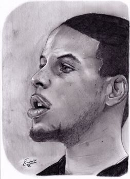 Drawn portrait stephen curry LightvsRight DeviantArt stephencurry by HuanLe