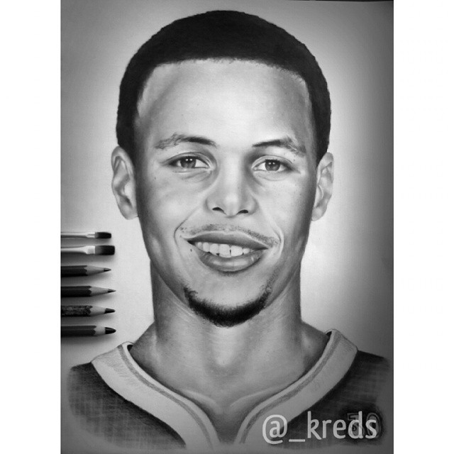 Drawn portrait stephen curry _kreds on stephencurry drawing Instagram