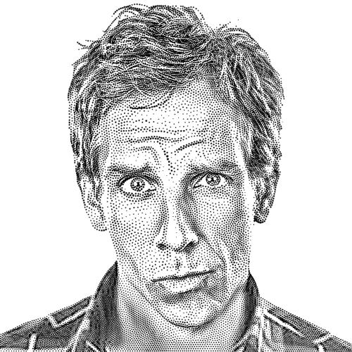 Drawn portrait stippling Portraits on Behance style WSJ