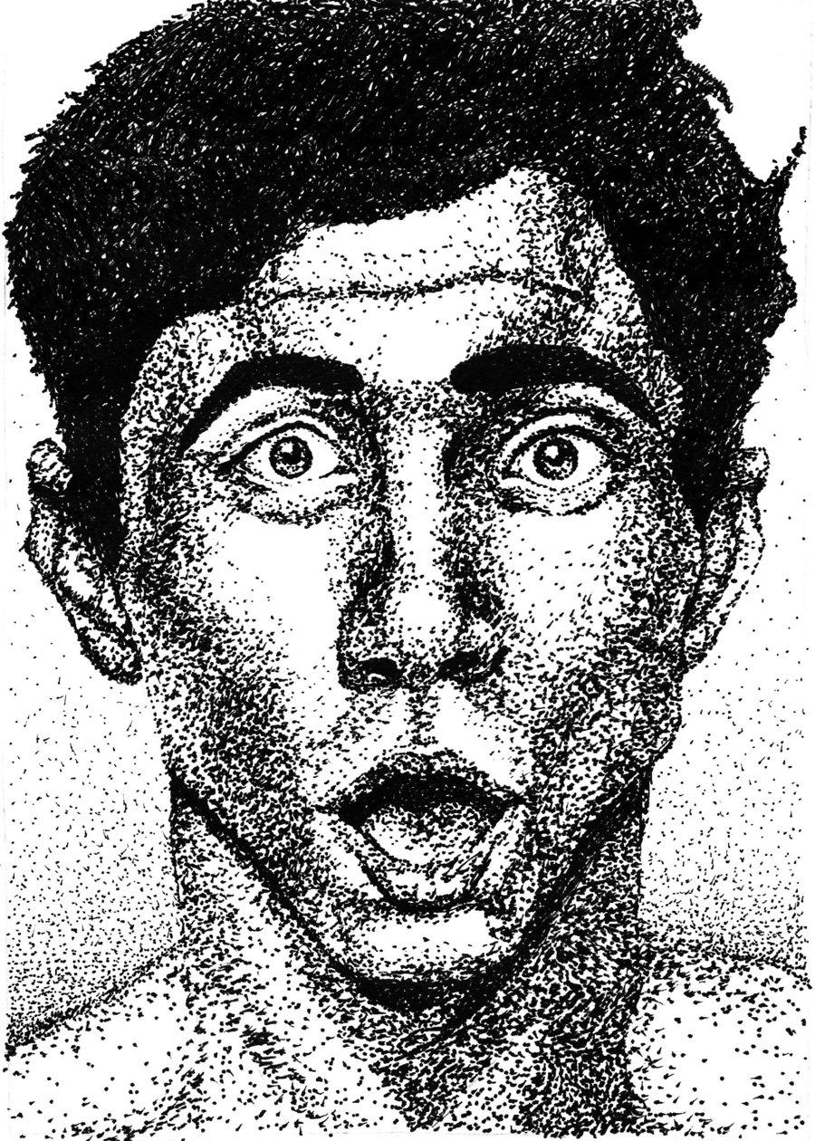 Drawn portrait stippling DeviantArt Portrait by Britan Britan