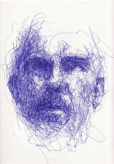 Drawn portrait straight line Continuous Drawing line images 89