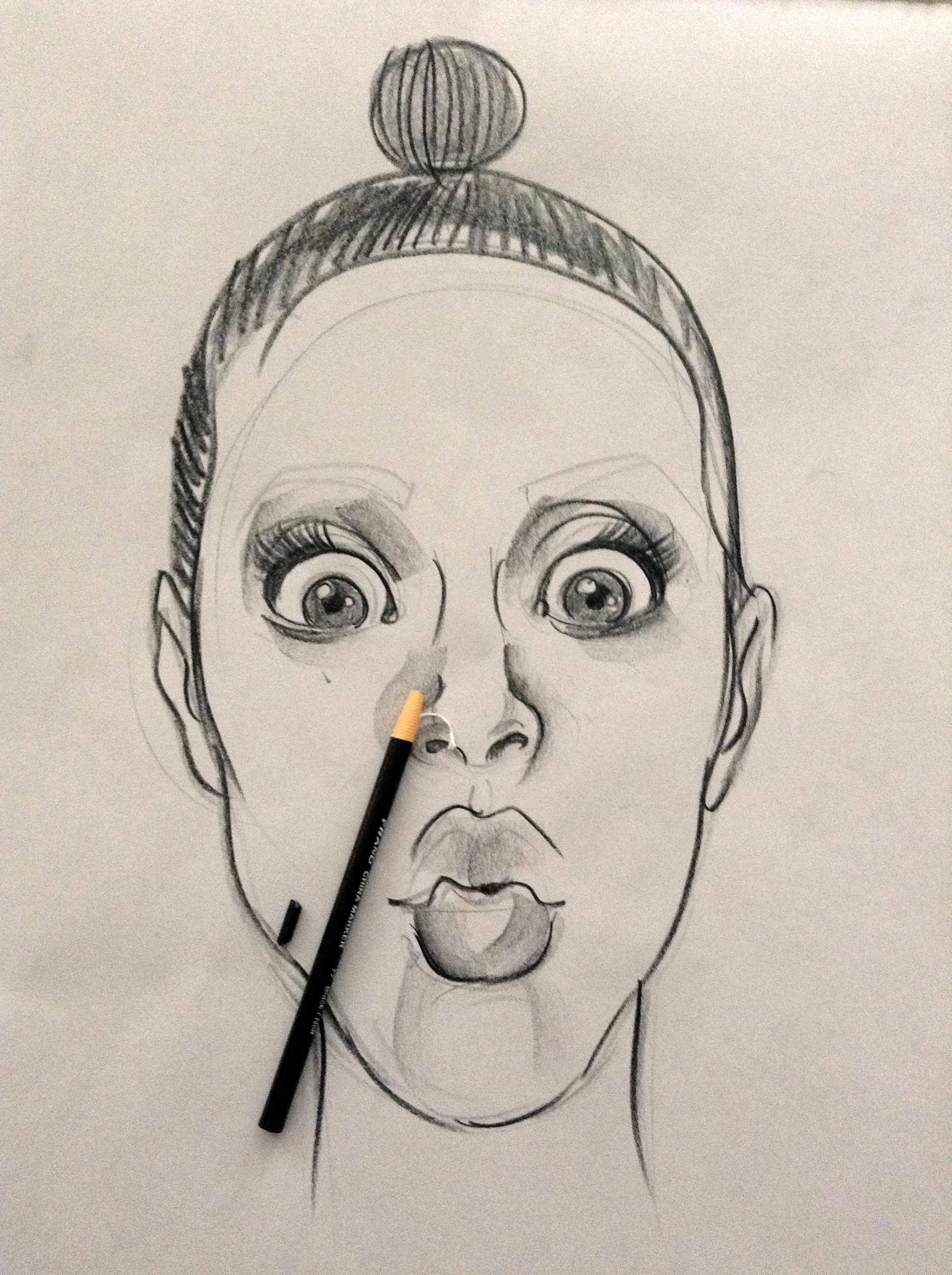 Drawn portrait street #drawing The  process #portrait