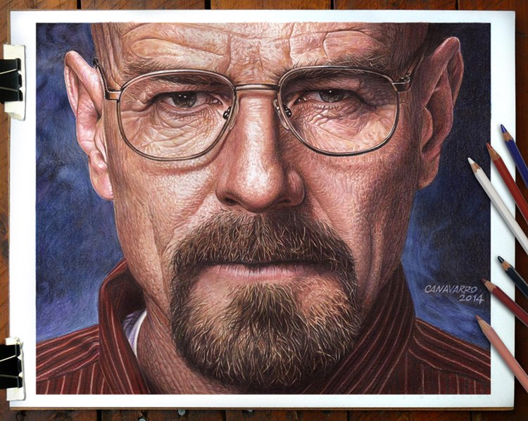 Drawn portrait supe realism Walter Pictures Super  You