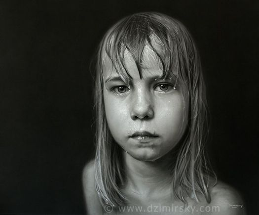 Drawn portrait supe realism Dirk element the this pencil