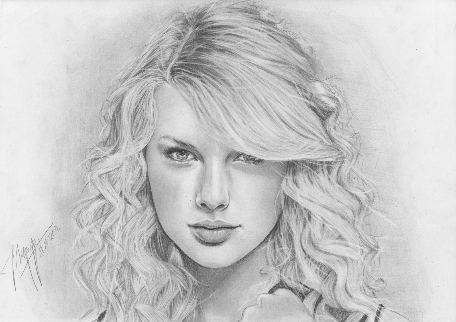 Drawn portrait taylor swift AfterSchoolArts by Swift Taylor Taylor