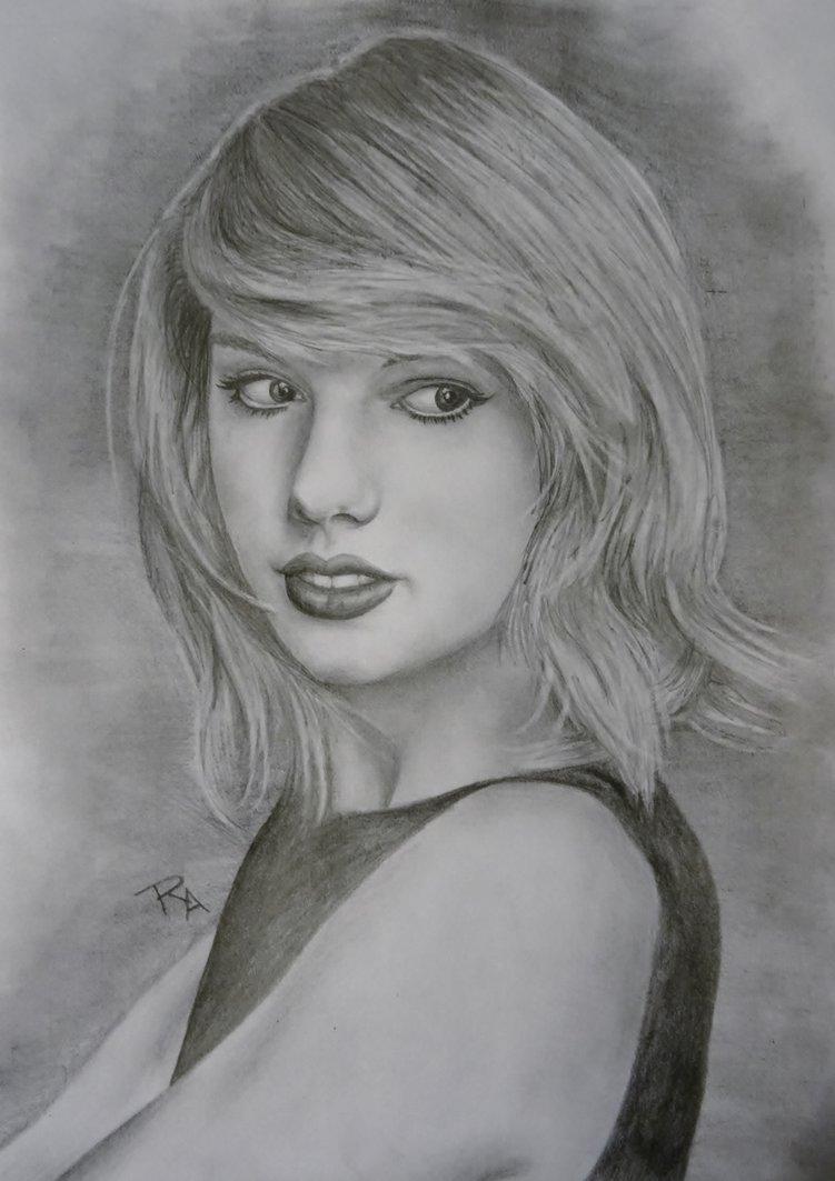 Drawn portrait taylor swift Rosabelledraws by DeviantArt Taylor on