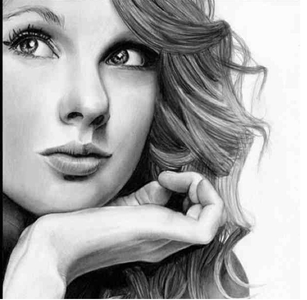 Drawn portrait taylor swift Taylor Swift Taylor Drawing