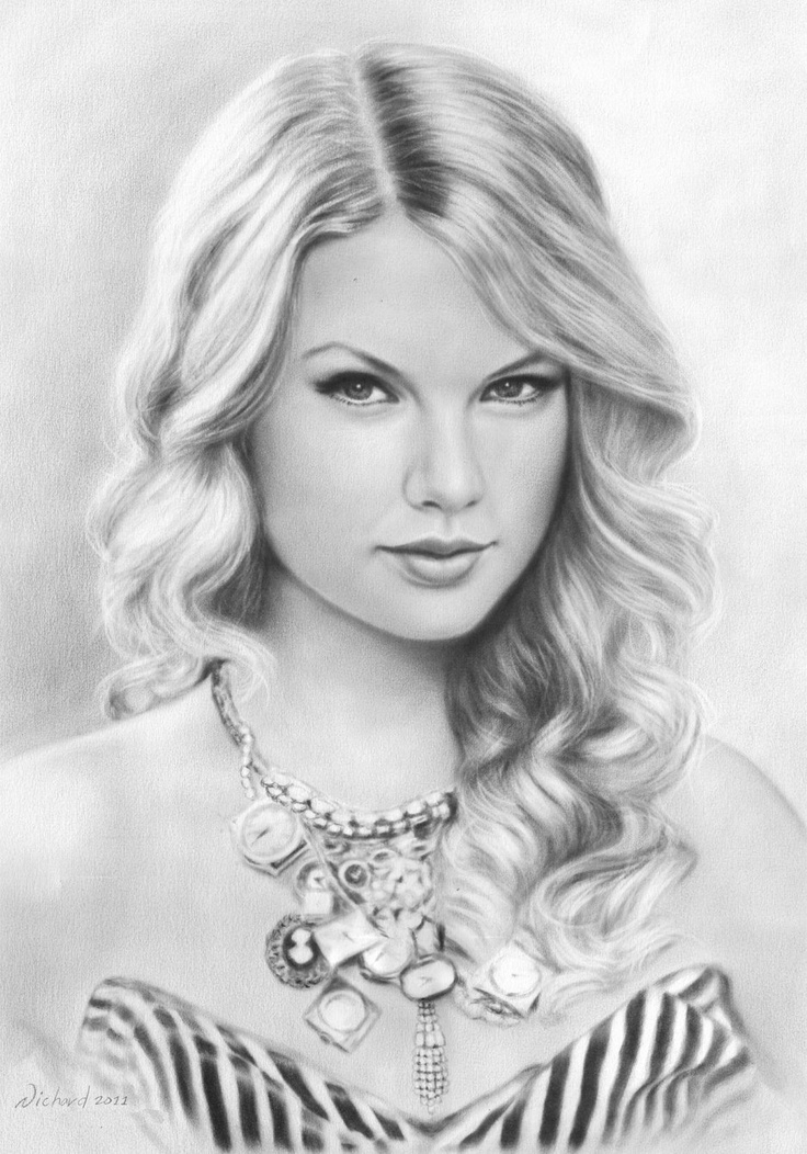Drawn portrait taylor swift Swift Swift Drawings Pencil Pinterest
