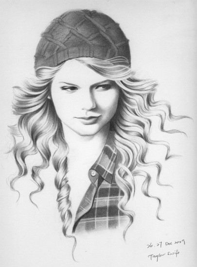 Drawn portrait taylor swift Red2207 Swift Taylor Portraits of
