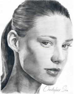 Drawn portrait tonal Portraits pencil draw To review
